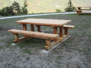 Table banc montagne